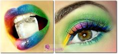 Summer Rainbow .... http://www.makeupbee.com/look_Summer-Rainbow-_42386