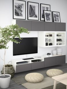 Most Polular Besta Living Room Ikea Small Living Room Ideas With Tv, Small Living Rooms, Living Room Designs, Ikea Living Room, Living Room Storage, Living Room Furniture, Basement Furniture, Ikea Furniture, Furniture Ideas