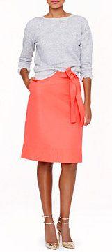 Neon Faille Skirt