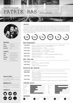 resume cv template graphics blackandwhite bw icons icongraphic business work job interview economist design