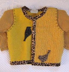 Felted Girl Sweater made from recycled materials by heartfeltbaby, $75.00