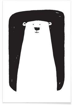 Bear als Premium Poster von Richard Hood Poster Design, Logo Design, Bear Design, Poster Online, Stamp Carving, Bear Illustration, Linoprint, Affinity Designer, Bear Art