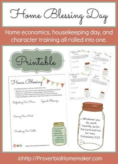 Start a Home Blessing Day every week in your homeschool! Download a FREE PRINTABLE and plan a day of catch-up, training, and home ec all in one day.