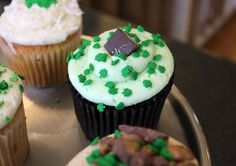 St. Pat's cupcake from The Cup in Springfield, Missouri.