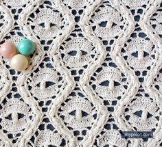 Crochet Lace Spider Stitch Tutorial - (mypicot)