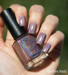 Too Fancy Lacquer - Cherish the present - holo version