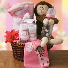 Monkey Business  Baby Gift Basket  Price: $72.95