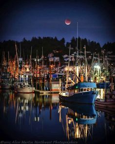 Eclipse over the Bayfront in Newport, Oregon.  Photo: Alice Miller
