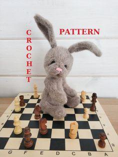 Crochet Animal Patterns, Crochet Patterns Amigurumi, Amigurumi Toys, Knitting Patterns, Bunny Plush, Bunny Toys, Crochet Gifts, Stuffed Toys Patterns, Handmade Decorations