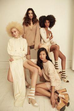 Nylon Magazine March 2017 by Shxpir -- Visit shop mode here -- femme - Fashion Poses, Fashion Group, High Fashion Shoots, Shooting Photo Studio, Editorial Photography, Fashion Photography, Group Photography Poses, Prom Photography, Glamour Photography
