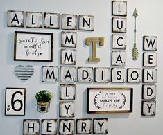 These wood scrabble tiles are 5.5x5.5 inches and is the perfect accent to any family room. These tiles are versatile and can be arranged to spell something special and can continue to grow with more letters added in the future. There are so many ways to use these blocks, spell