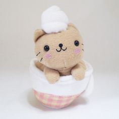 San-x Nyan Nyan Nyanko Kitty cat brown Cofee Cup kawaii plush doll- cute japanese | Flickr - Photo Sharing!