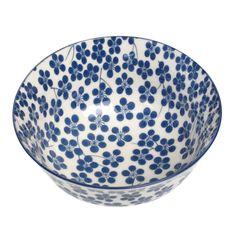 Grand Bol En Porcelaine Bleu Nigella | DotComGiftShop
