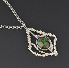 Solid Silver Vintage Black Opal Doublet Necklace  #Necklace #Vintage #Black #wedding #intage #Silver #Opal #Sterling #Cuff #Agate
