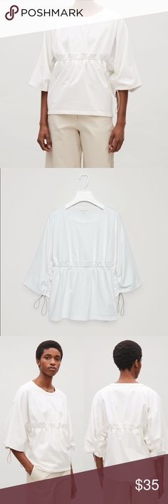 COS Elasticated Drawstring Top European brand. White drawstring top. In perfect condition. Feel free to start a bundle for a discount or make me an offer! 💕 COS Tops