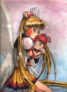 Sailor Moon and Chibi-chibi by ~Tyutya