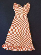 SINDY 1974 CHECK MATE CHECKMATE S218 - DRESS - vintage dolls clothes