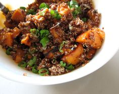 love the cran, feta and almond added ideas - Sweet Potato and Quinoa Salad by you can count on me, via Flickr