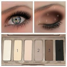naked basics palette to bring out green eyes- this is Urban Decay and this exactly what I use, I love it