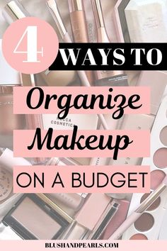 4 Easy Ways To Organize Your Makeup Makeup organizers and makeup storage ideas that are easy and affordable! Organize your makeup vanity with acrylic organizers and more! Diy Makeup Organizer, Makeup Storage Organization, Acrylic Organizer, Storage Ideas, Organization Ideas, Diy Storage, Beauty Make-up, Beauty Case, Beauty Tips