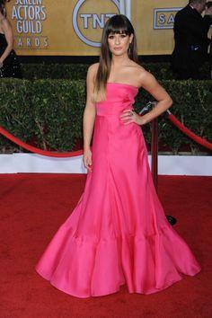 Lea Michele in Valentino dress.