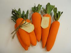 The Old Farmhouse Gathering: Tutorial on Making Fabric Carrots