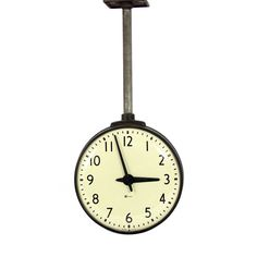 vintage hanging doublesided clock