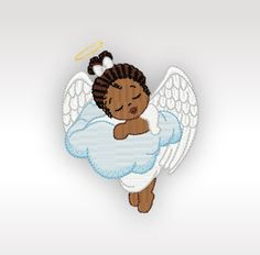 African Angel Machine Embroidery Design  by CeciliasEmbroidery