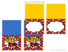 Free Superhero Printables + Extras #freeprintables #superhero #thankyoucards