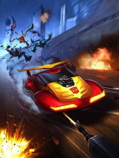 Autobot Hot Rod Artwork From Transformers Legends Game