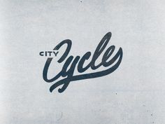 City Cycle in Typography