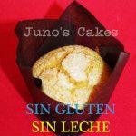 Muffin de Vainilla decorado con azucar. SIN GLUTEN Y SIN LECHE.  Apto para celíacos y alérgicos a la proteina lactea