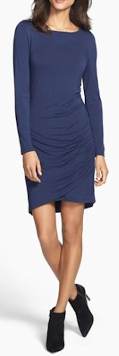 side shirred knit dress  http://rstyle.me/n/mrekapdpe