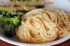 roasted garlic, brown butter and parmesan pasta