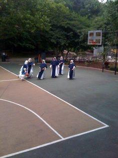 A nun basketball game.  Awesome.