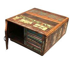 Mesa de centro en madera reciclada Antigua Rainbow