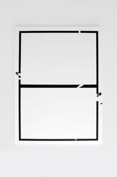 Ryan Estep, Untitled (No.1). Lidocaine Gel, Black pigment on canvas. 55 x 40 x 1.5. 2013.