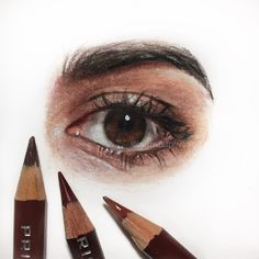 Colored pencil drawing of my eye ✍