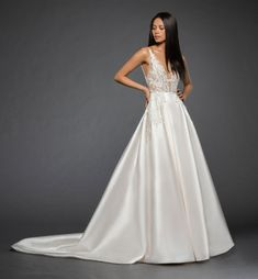 Lazaro Style 3861 Rufina Bridal Gown Front