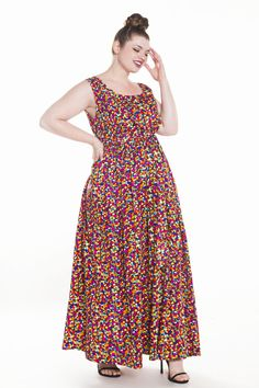 9e7972c4e7774 JIBRI MULTICOLORED POLKA DOT MAXI DRESS Polka Dot Maxi Dresses