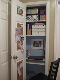 Great Desk/office Space In A Small Closet. Image Detail For  The Walls To  Make It Interesting And Fun Why Not | Organization! | Pinterest | Why Not,  A Small ...