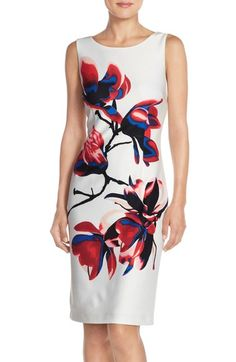 Ivanka Trump Floral Print Scuba Sheath Dress available at #Nordstrom