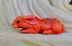 polymer clay rabbit by MadreOlly