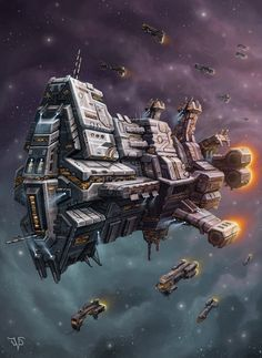 Star Guardian by LeonovichDmitriy on deviantART Spaceship Design, Spaceship Concept, Concept Ships, Stargate, Sci Fi Spaceships, Space Engineers, 70s Sci Fi Art, Space Battles, Space Fantasy