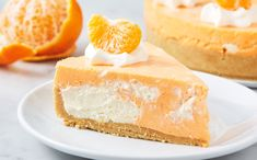 This No-Bake Cheesecake Tastes Exactly Like A Creamsicle! No Bake Cheesecake, Cheesecake Recipes, Cheesecake Deserts, Easy No Bake Desserts, Dessert Recipes, Keto Desserts, Yummy Recipes, Salty Cake, Savoury Cake