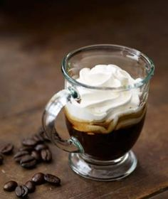 I'm feeling the need to try this on Thursday. (Espresso Con Panna)   A full throttle shot of Espresso!  YUM....
