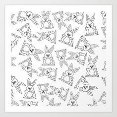 Bunny Pattern Art Print by imagology Pattern Art, Rabbits, Bunny, Art Prints, Words, Art Impressions, Bunnies, Hare, Fine Art Prints