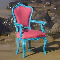I'd love a set of these for my dining room! Armchair Blue Fuchsia, $475, now featured on Fab.