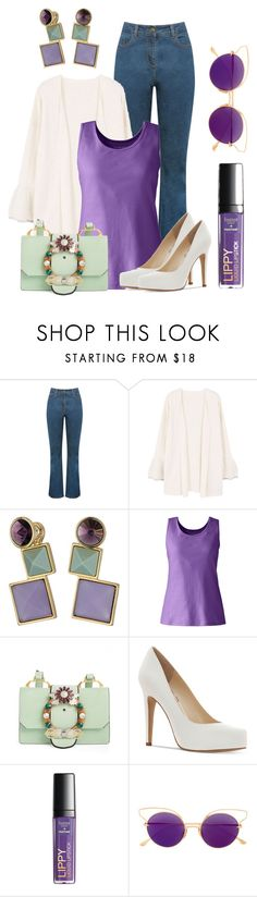 """""""Pantone Ultra Violet"""" by lchar ❤ liked on Polyvore featuring M&Co, MANGO, Rebecca Minkoff, Lands' End, Miu Miu, Jessica Simpson and Dita"""