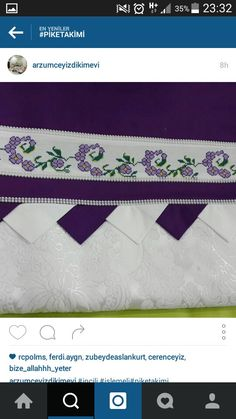 Stitch Crochet, Vintage Cross Stitches, Bargello, Embroidery Stitches, Diy And Crafts, Doilies, Cross Stitch Borders, Towels, Embroidered Towels